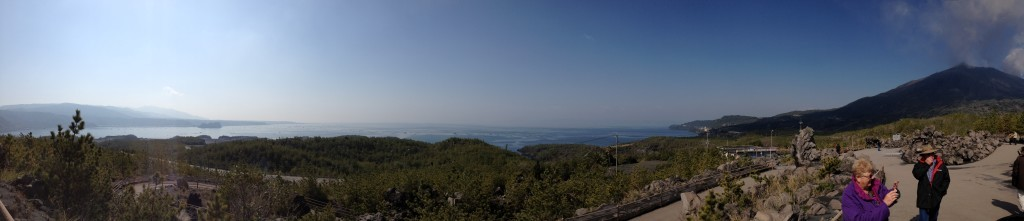 View to the bay from the volcano