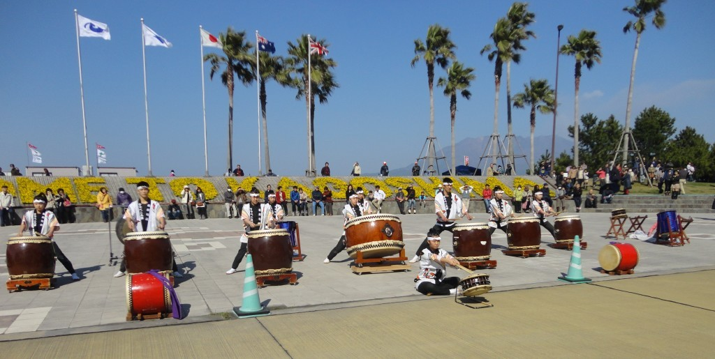 Kagoshima band playing drums