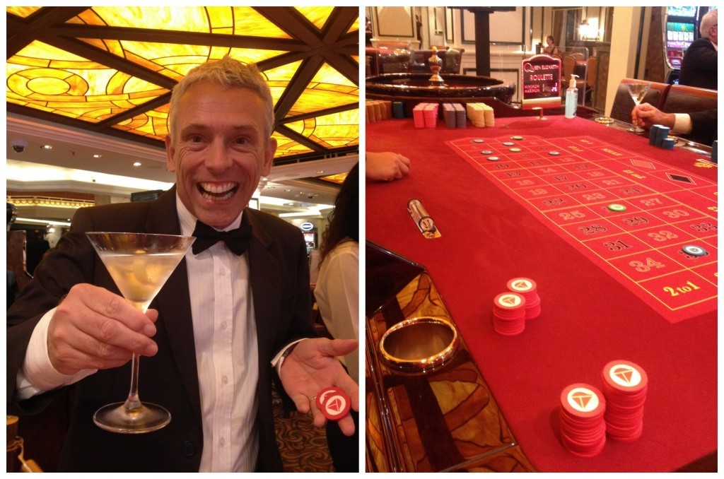 I feel like 007 at the casino tables
