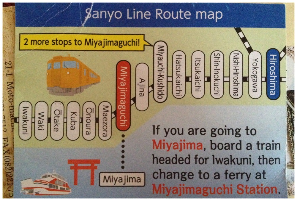 Going to Miyajima, make sure you get off at the right stop