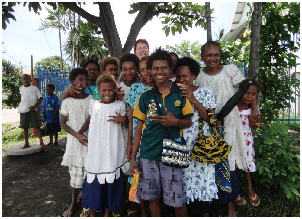 Happy locals from Rabaul