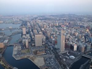 One side of Yokohama by day