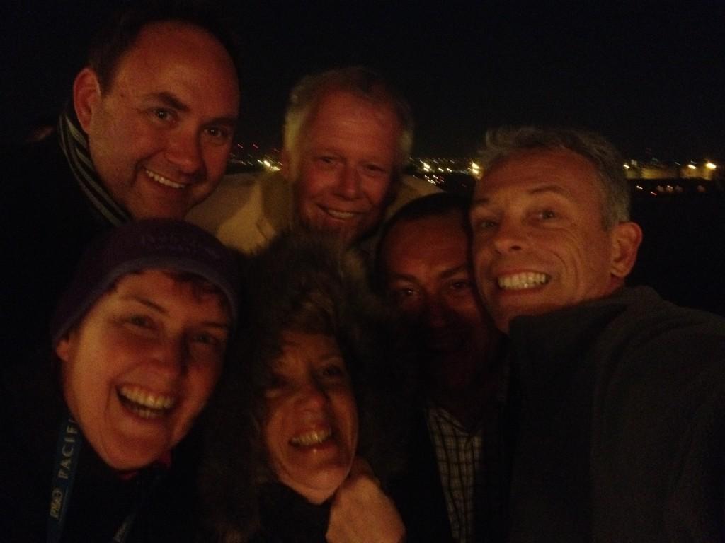 Group selfie with Steve, Peter, Dene, me, Moni & Carol