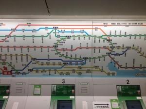Japan subway map