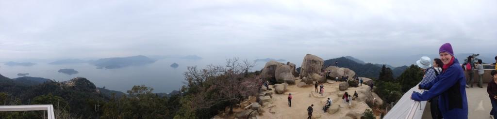 Panarama view from Mt Misen