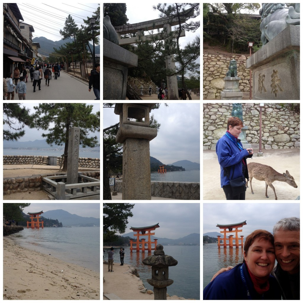 Miyajima island walk to Torii gate