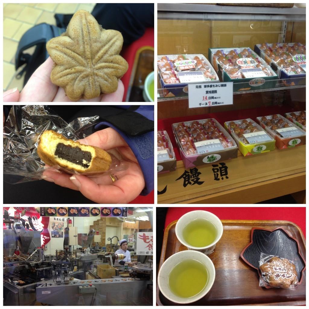Momiji-manju the maple-leaf-shaped cakes
