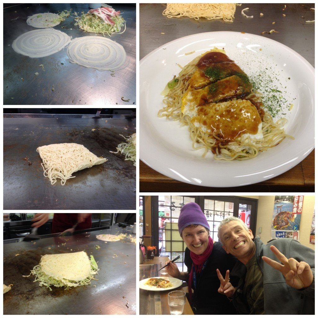 The famous Okonomiyaki, our first one