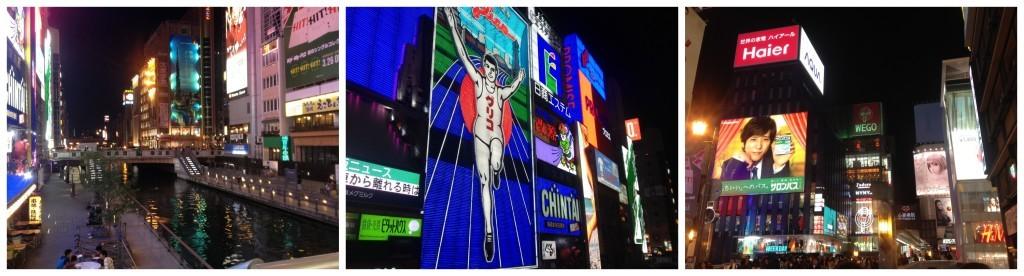The famous Running Man neon sign in Dotombori