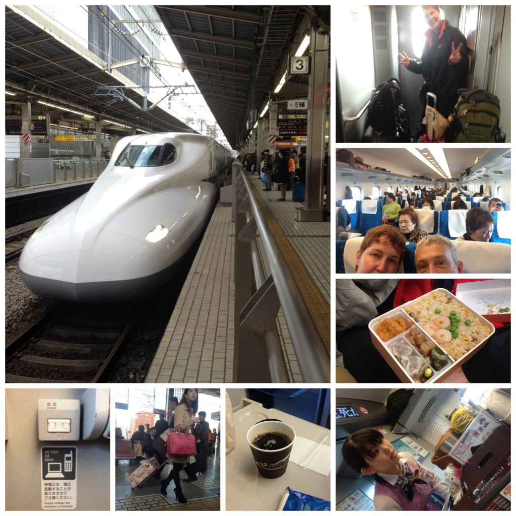 Our first Shinkansen ride