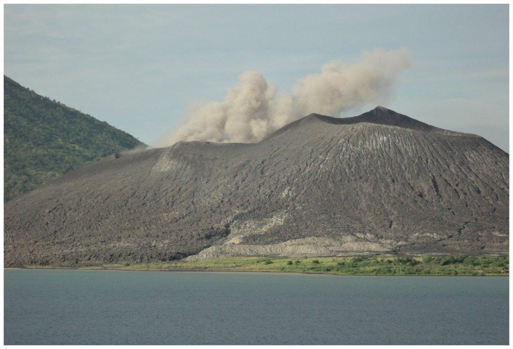 Tavurvur Volcano in Rabual