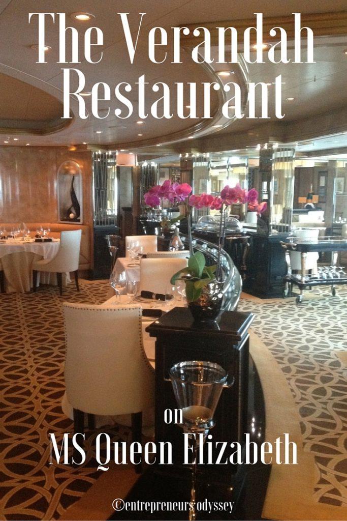 The Verandah Restaurant on MS QE