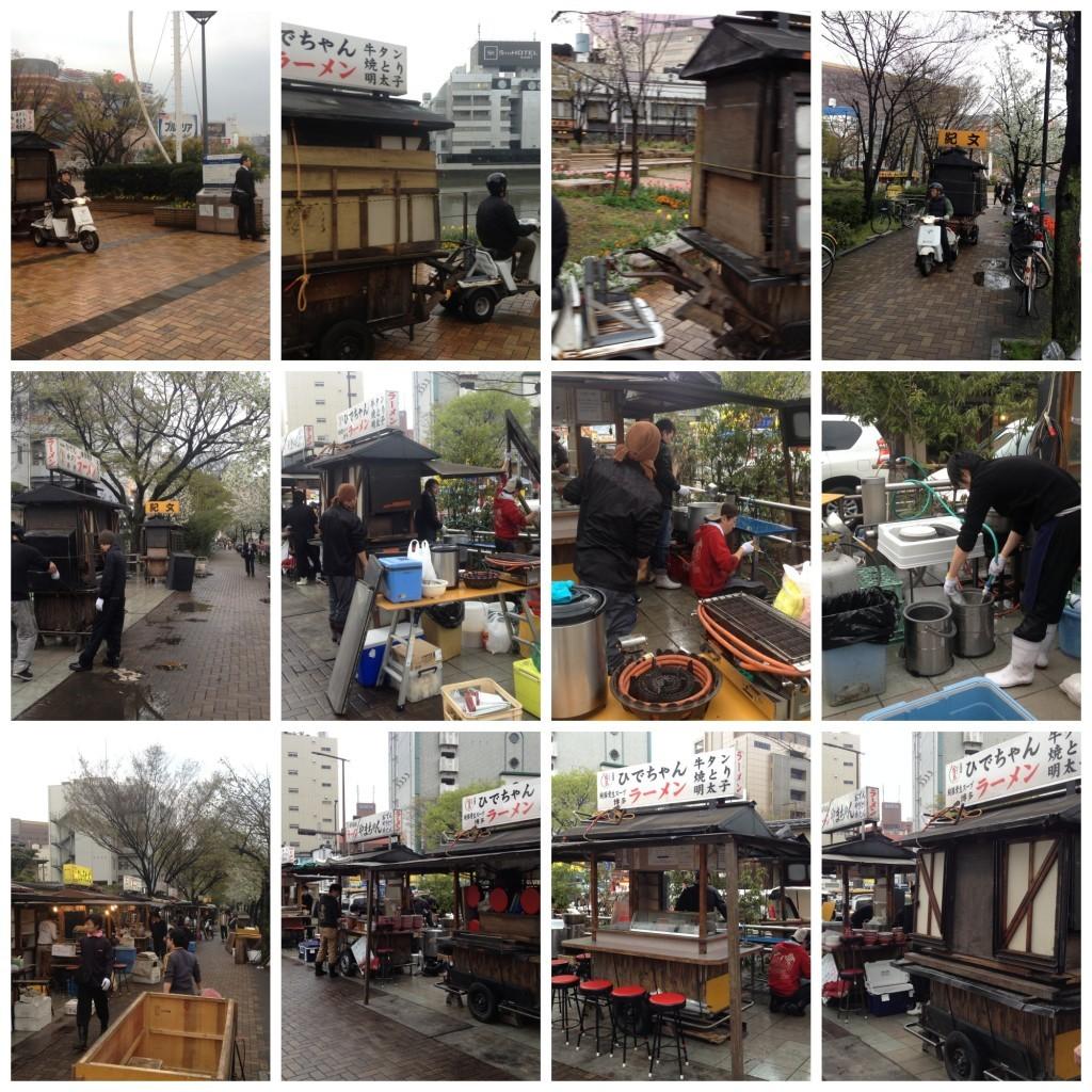 Yatai stalls in Hakata