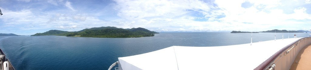 Views from the front of the QE towards PNG