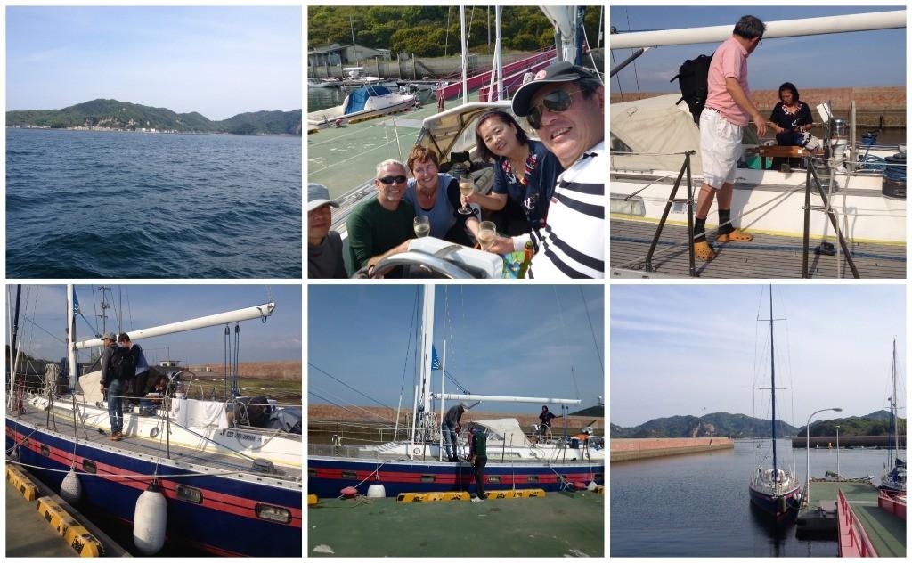 Alongside the jetty at Shiraishi Island