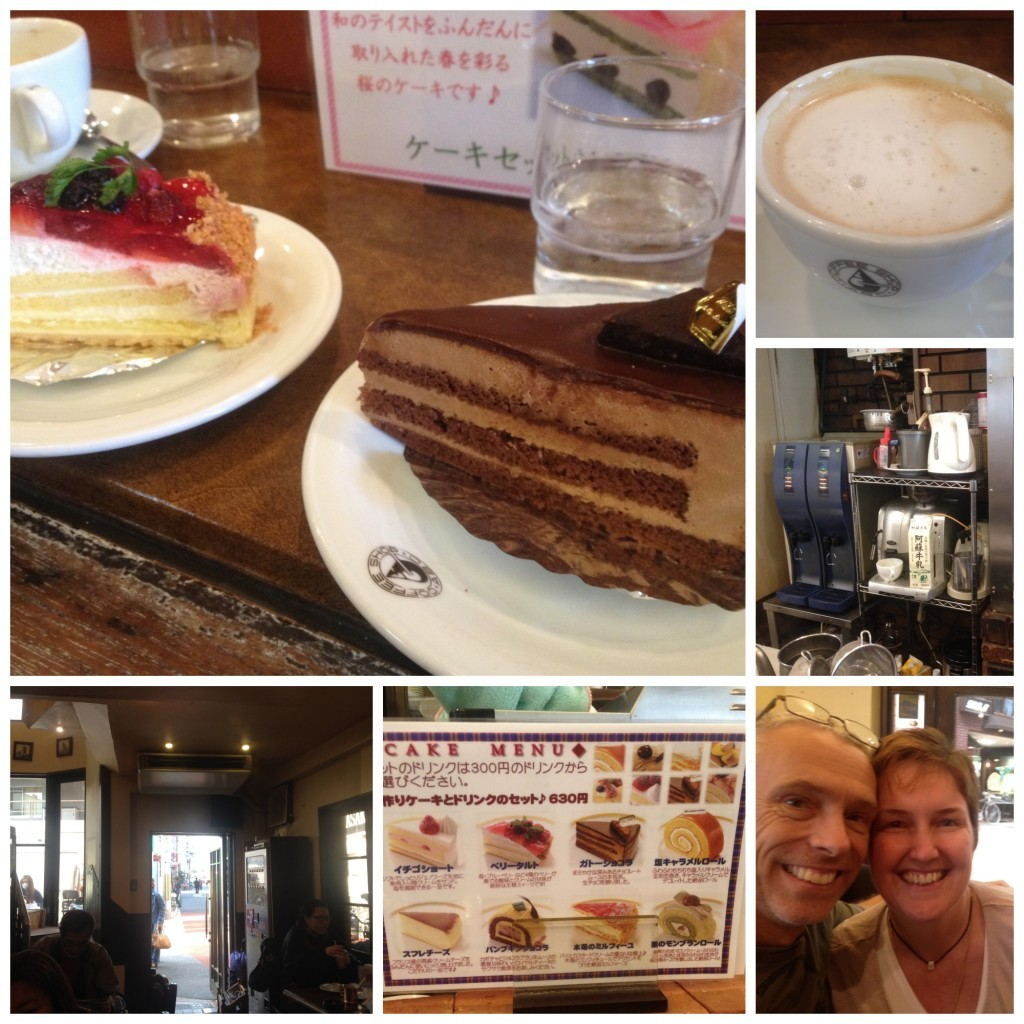 Coffee & cake at ABC coffee shop Sembayashi-omiya Collage