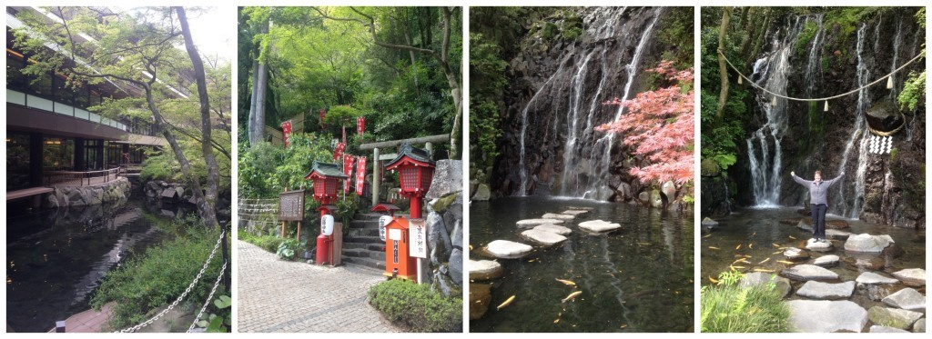 Hakone waterfall & hotel