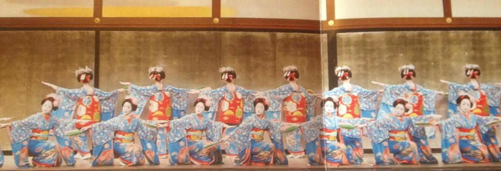 Miyako Odori performance on stage (from brochure)