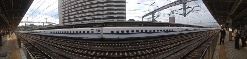 Shinkansen panorama at Odawa station