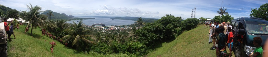 Panorama from the volcano observatory