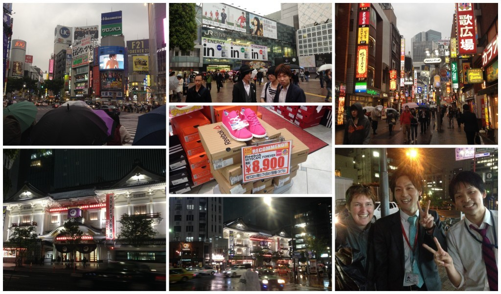 Images from Shibuya & on our way to Manga cafe with the help of two local lads