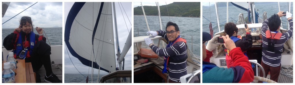 Introducing Take & Nack, two sails up, on board paparazi