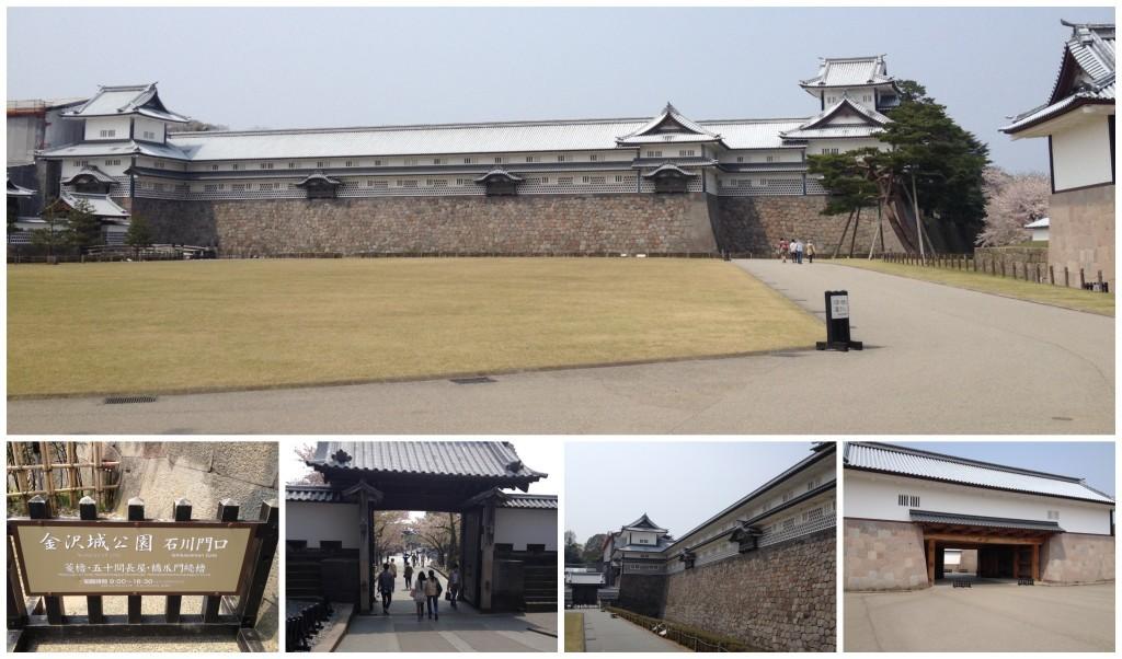 Kanazawa Castle entrance and grounds