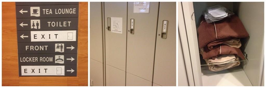 Lockers at Capsule hotel in Kiba