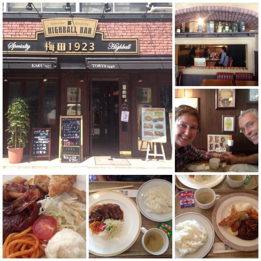 Lunch at the Highball Bar in Osaka
