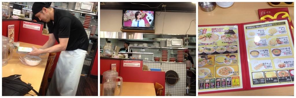 Lunch in our favourite ramen place in Sembayashi-omiya