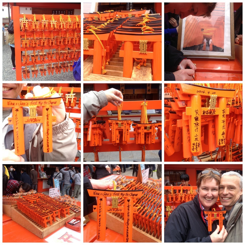 Mini Torri gates to write on and hang up at the shrine
