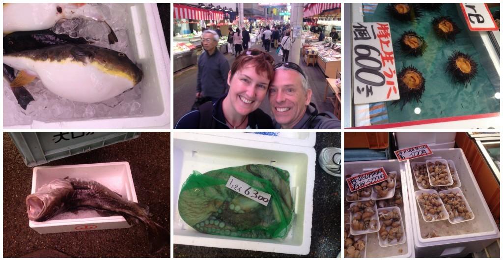 Omi-cho Market fish selection