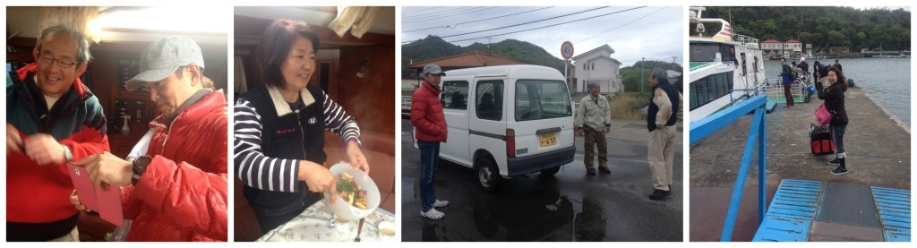 Paparazi at breakfast, sauing farewel to Sanji, meeting Nack & Take from the water taxi
