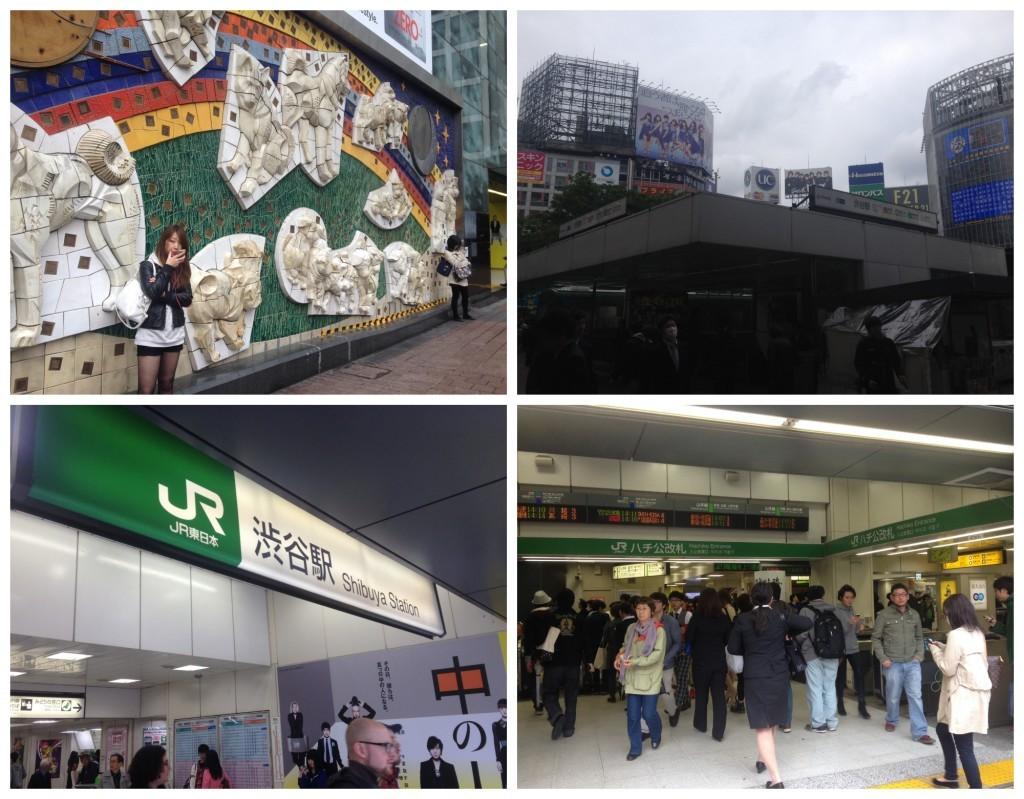 Shibuya JR Station Hacheta exit