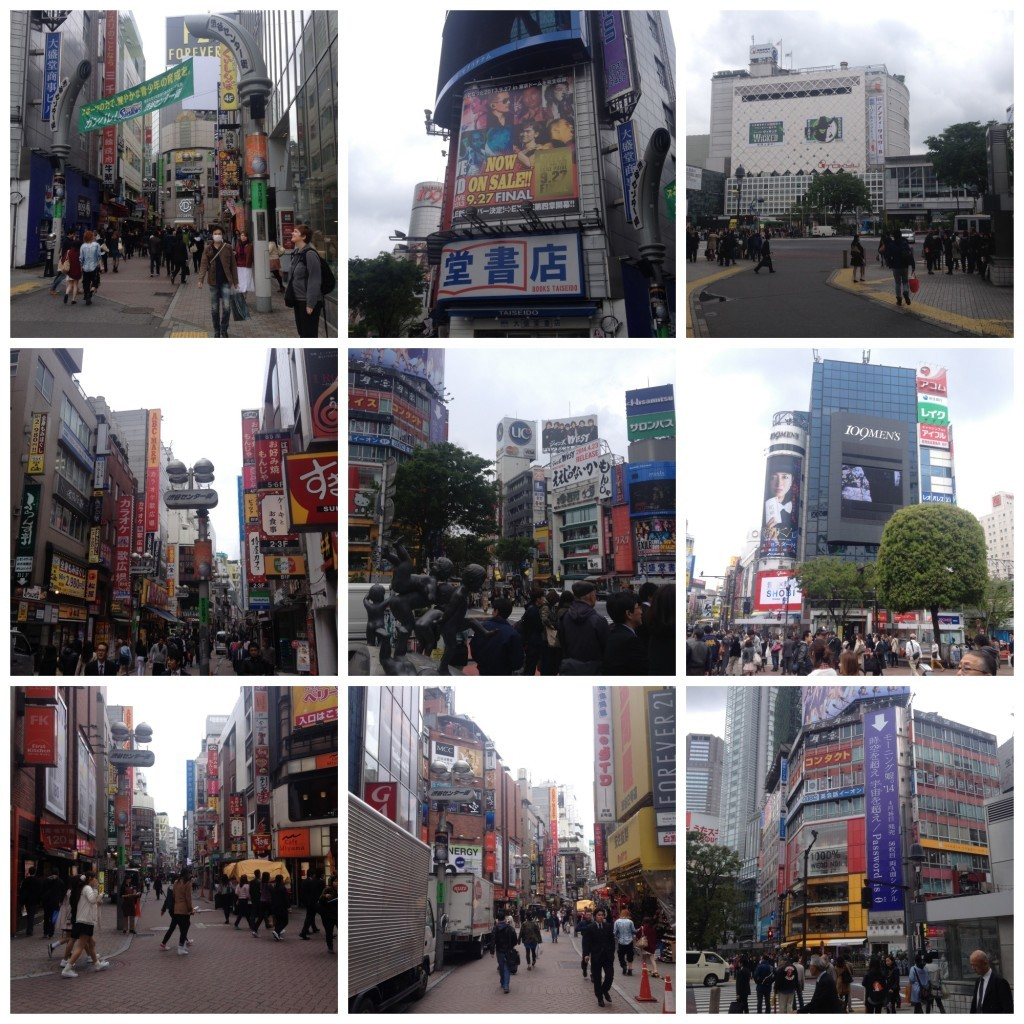Shibuya shopping area just off the crossing