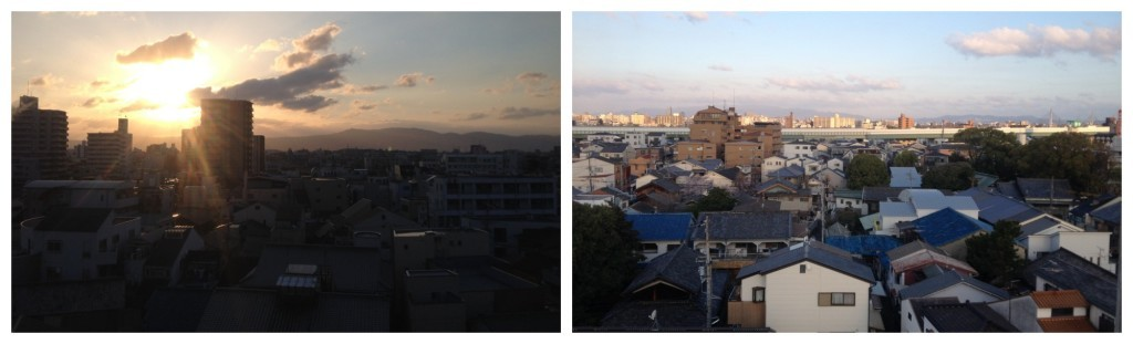 Sunrise from our balcony in Sembayashi-omiya