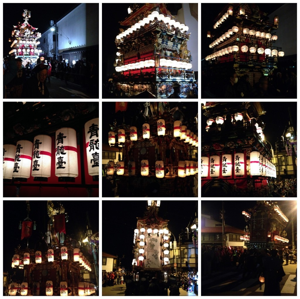 Images from Takayama festival night parade