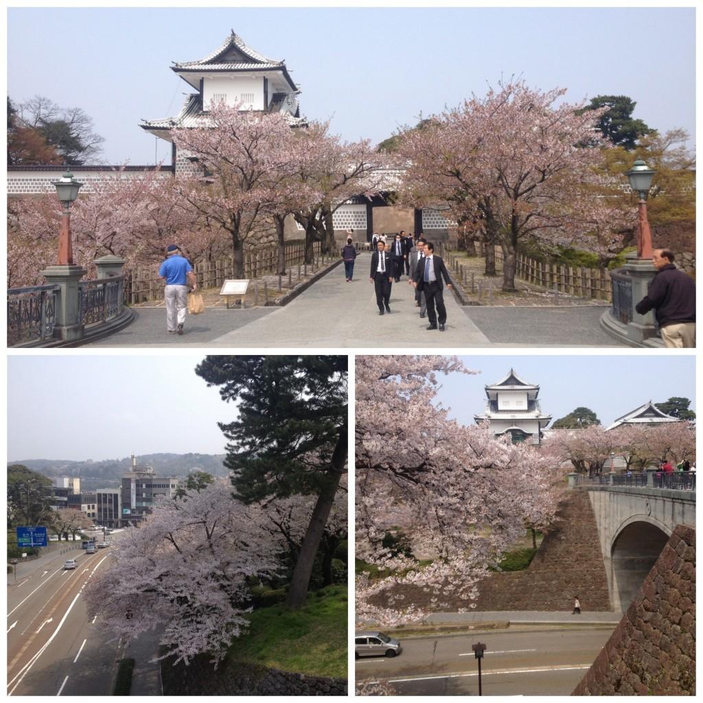 The bridge crossing the road to Kanazawa Castle