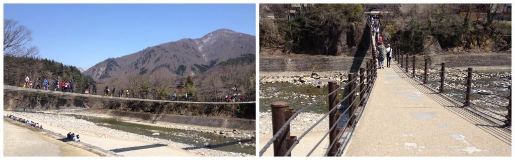 The bridge to the Gassho Houses Shirakawa-go