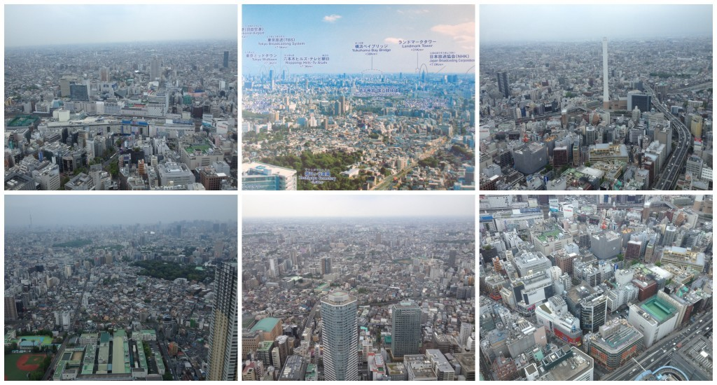 View from top of the Sunshine City tower across Tokyo