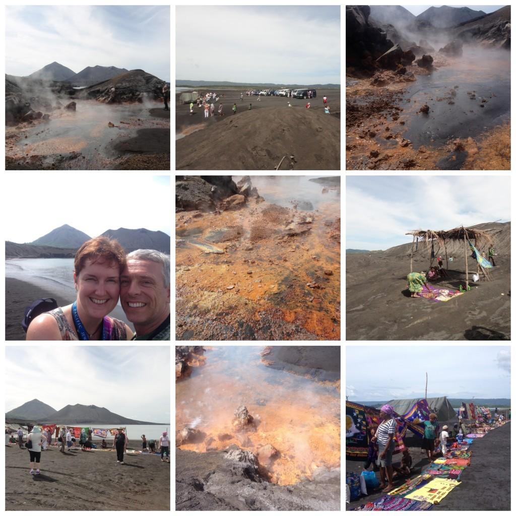 Rabaul volcano collage