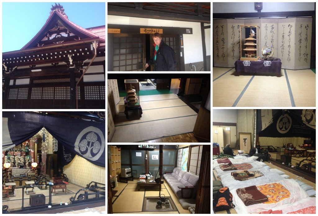Our accommodation at Zenkoji temple