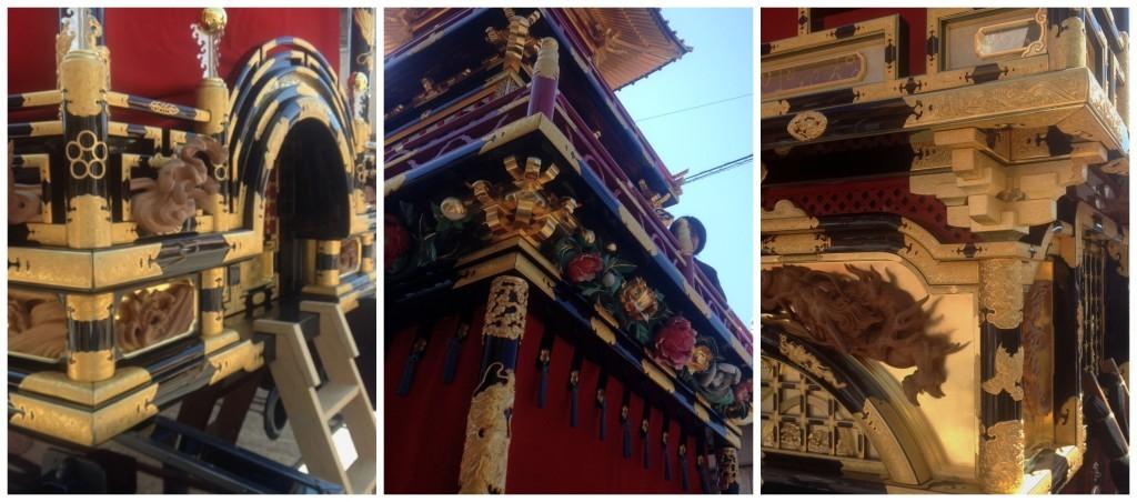 Intricate detail on the Yatai