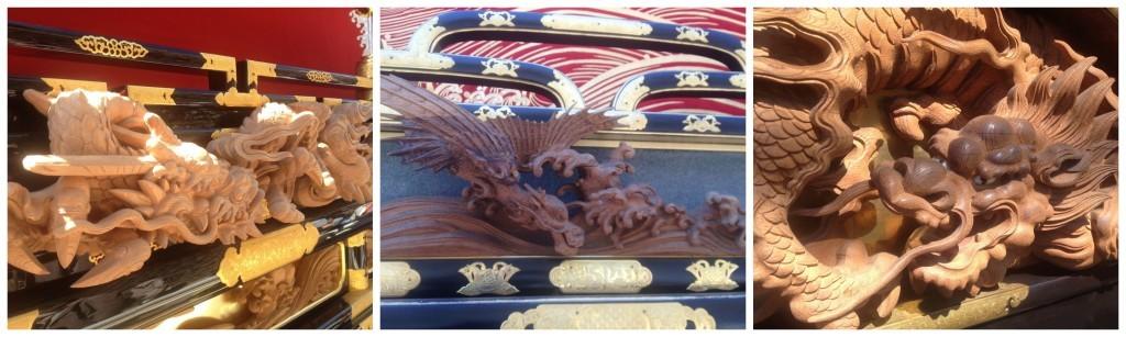 Takayama festival float dragon detail on the Yatai