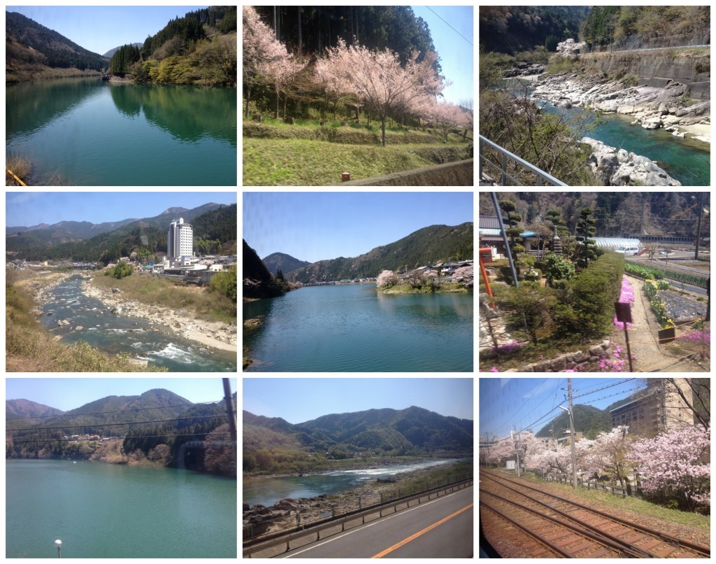 Images from the train journey to Takayama