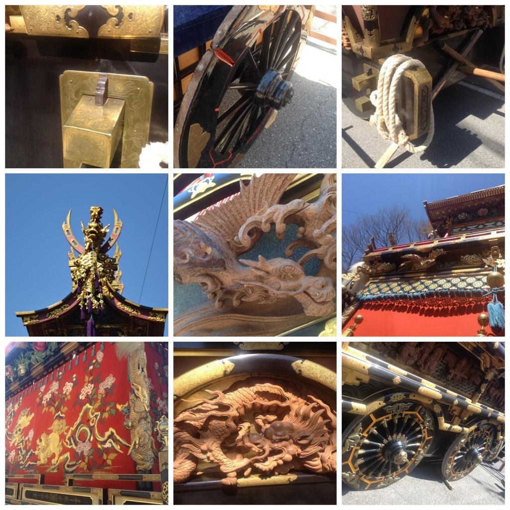 more images of detail on the Takayama yatai