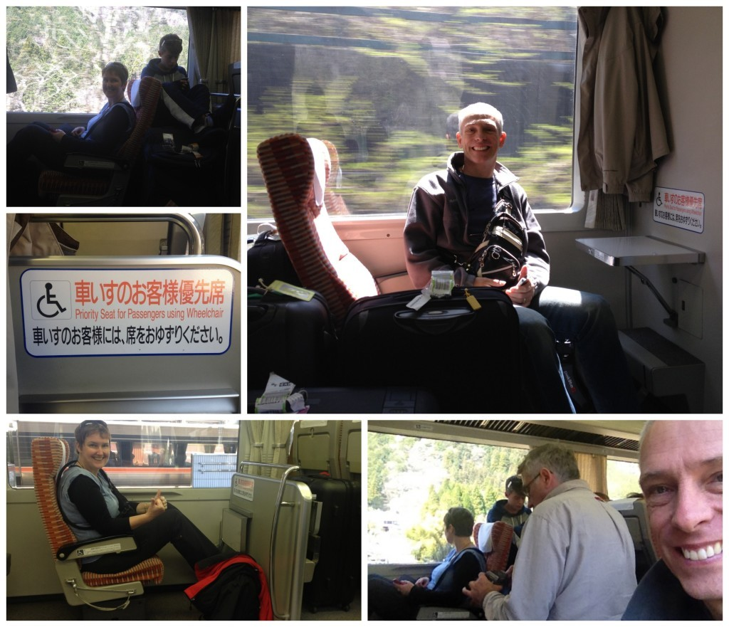 Fortunate for us we found wheelchair seats on train to Takayama
