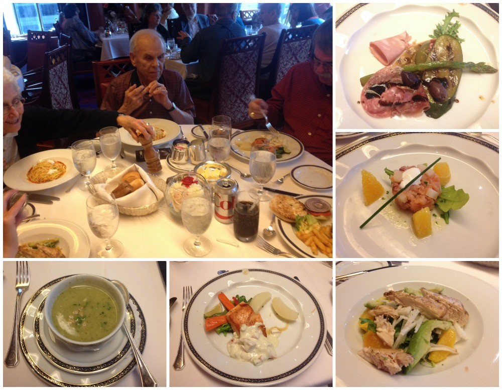 A selection of our lunch meals on MS Oosterdam