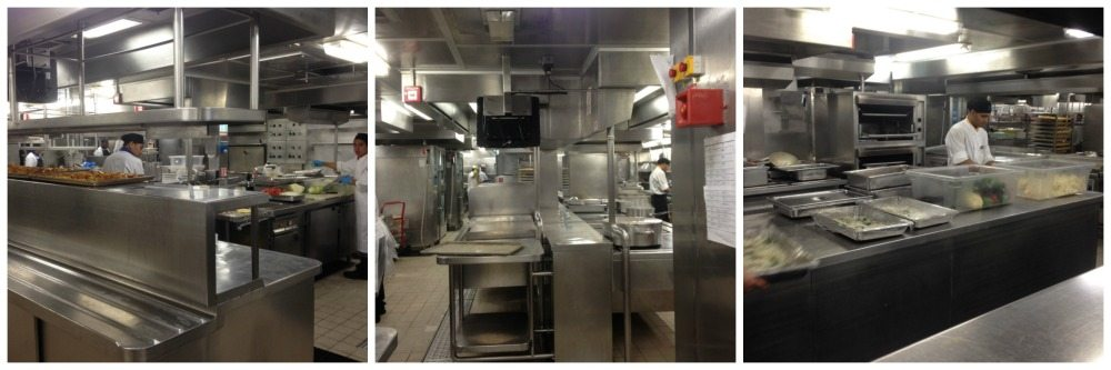 Action stations in the galley