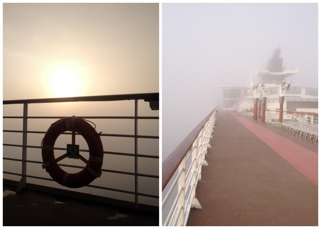 Amazing fog surounds Celebrity Millennium
